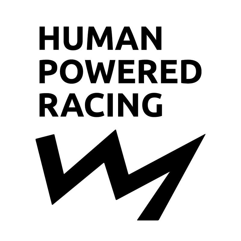 Human Powered Racing (black and white logo)