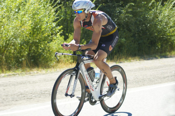 Mike on bike at 2011 Ironman Canada