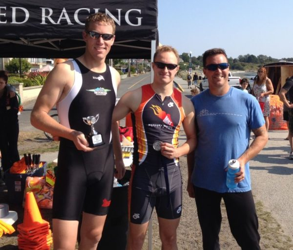Mens Podium at Eliminator Triathlon