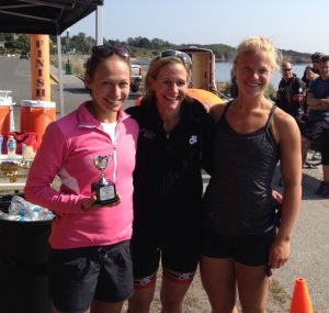 Women's Podium at Eliminator Triathlon