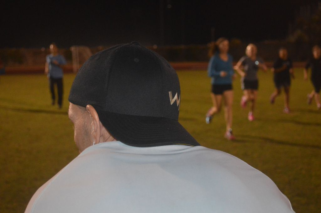 Watching Runners on track at Bermuda Winter Camp 2014