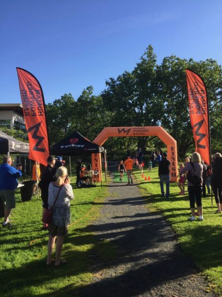 Finish Line of the 2017 HPR Youth Triathlon West Shore