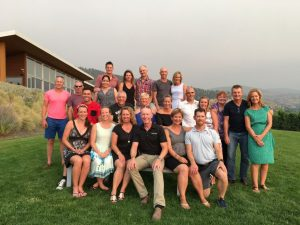 Post Race Dinner Photo at Poplar Grove Winery in Penticton