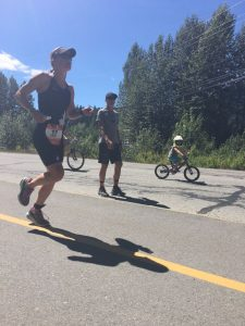 Fawn Running at Ironman Canada 2017