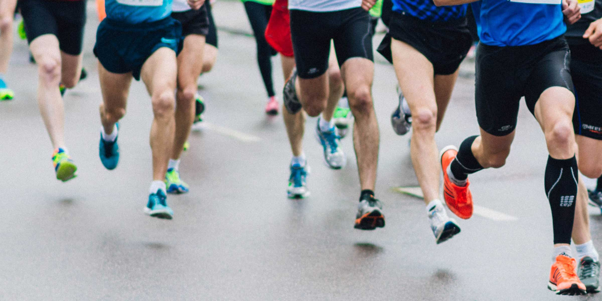 Runners take off down the road in the Vancouver Island Running Series