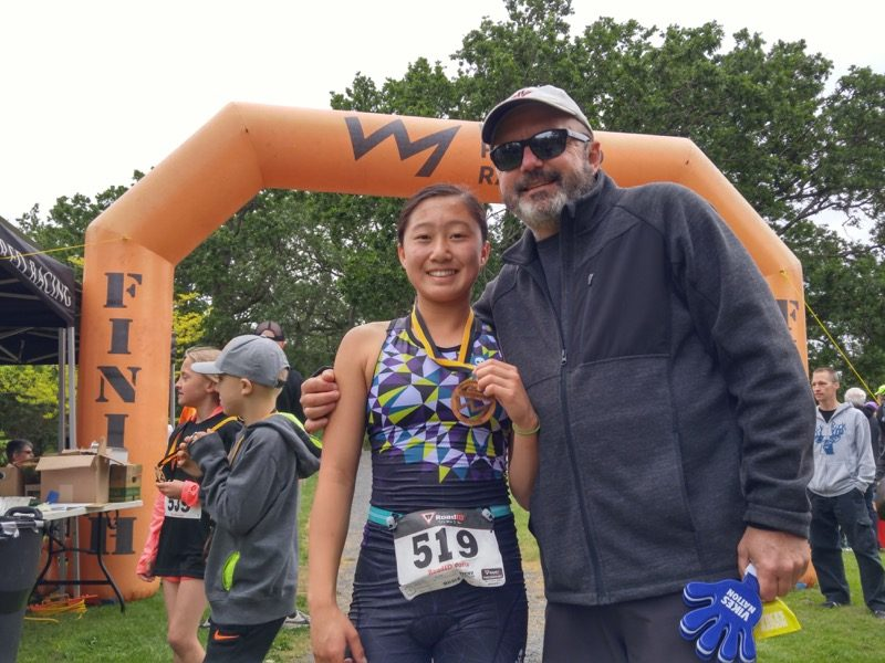 Kate and Mike Brooks, at the finish line.