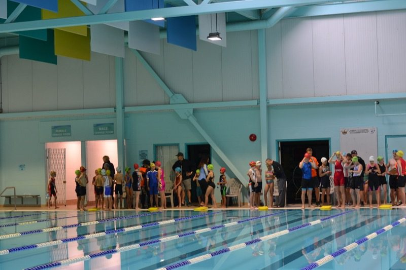 A moment of calm at the pool just before the race started.