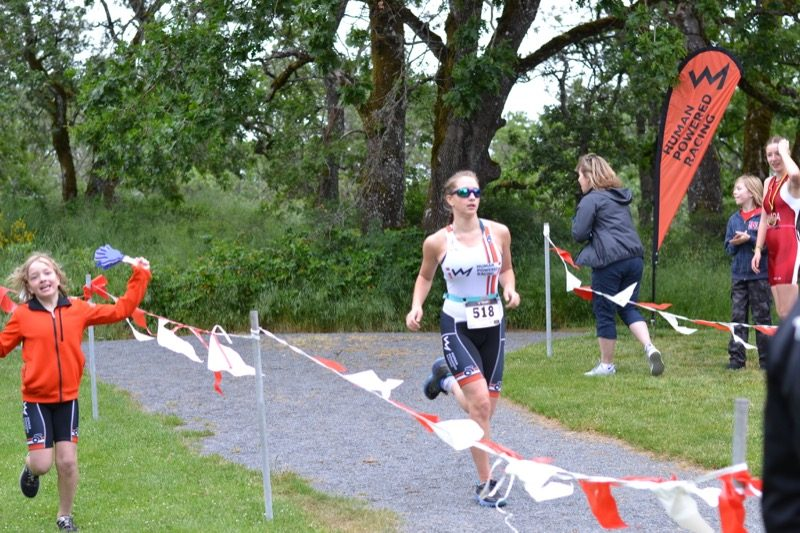 Finishing the HPR Youth Tri West Shore