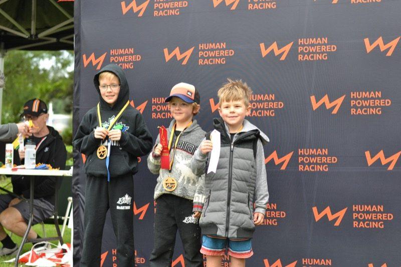 Boys 6 to 7 podium.