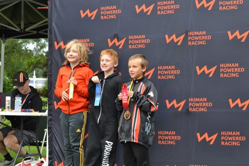 8-9 Male winners, Youth Triathlon Westshore 2018.