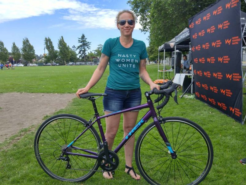 Tova wins a bike from TREK.