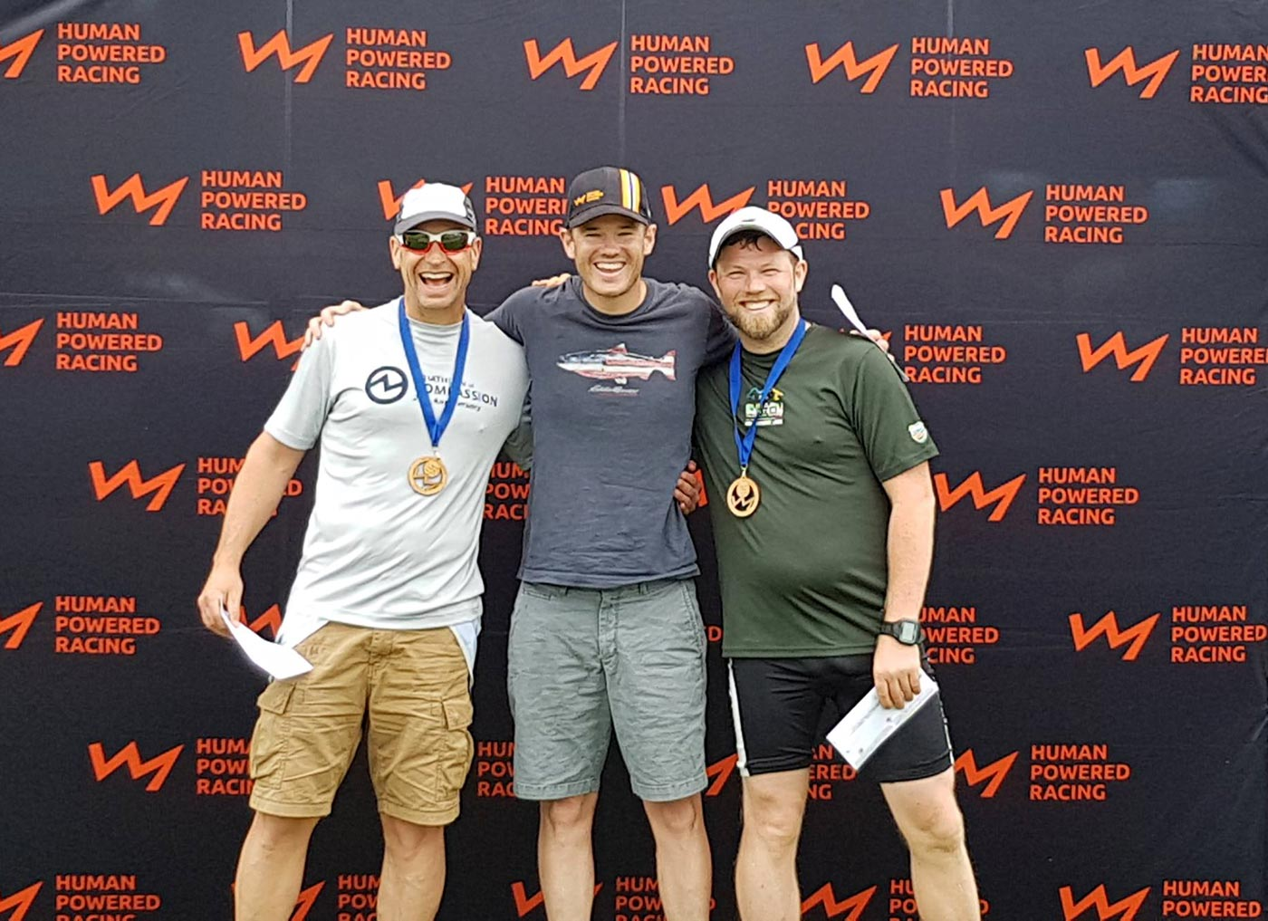 Three winners at the Triathlon of Compassion