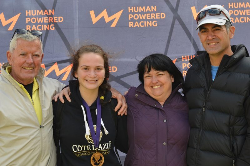 Ron Grant, with Kaitlyn, Tanya and Brent Chan. #TriathlonFamilies
