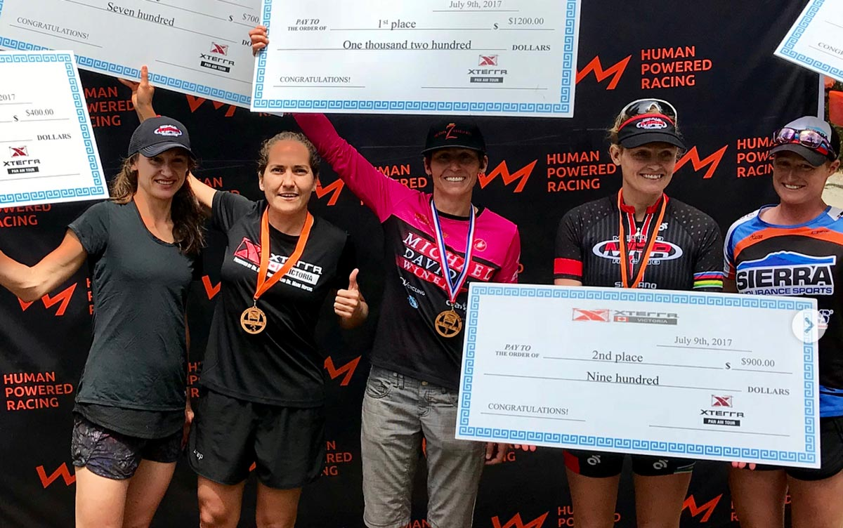 Winners of the XTERRA Victoria women's division.