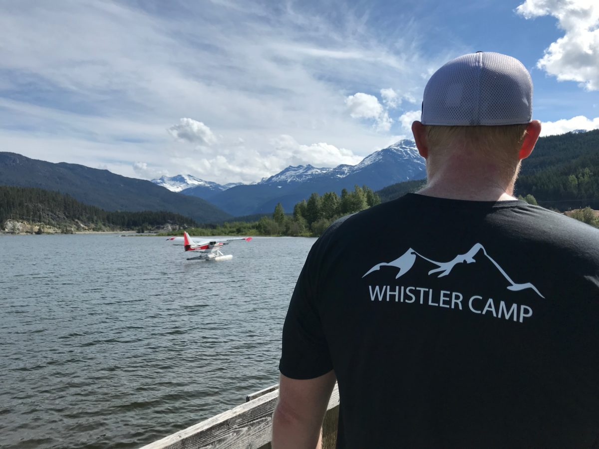 Mark Hopkins looking out at Green Lake on the run course of Ironman Canada in Whistler