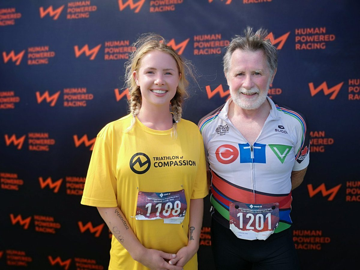 A couple of finishers at the Triathlon of Compassion
