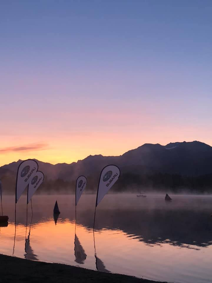 Race Morning Photo of Alta Lake