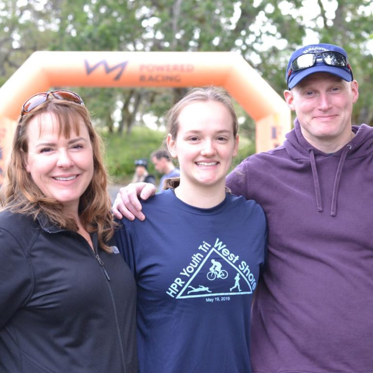 Family Support at the Youth Triathlon