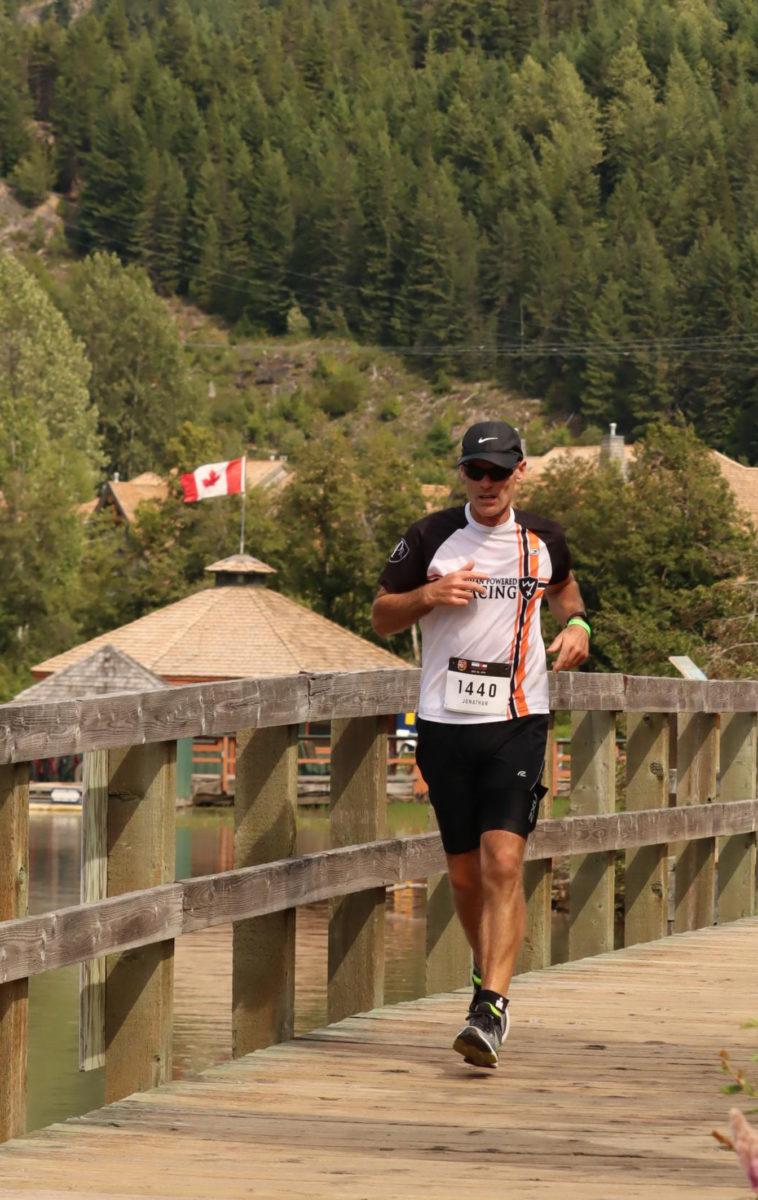 Jay Watson running at Ironman Canada 2019
