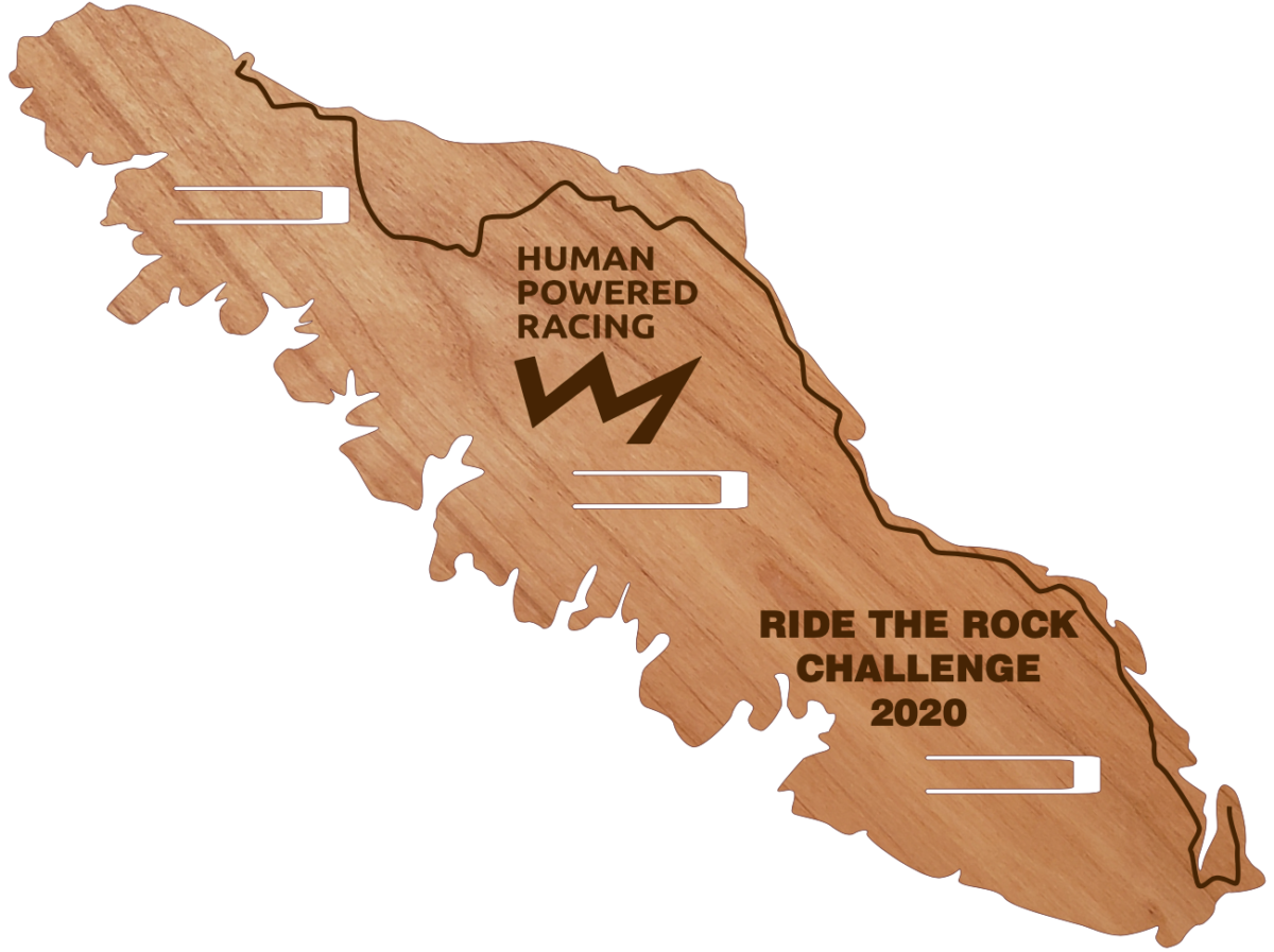 An image of the award plaque for Ride the Rock.