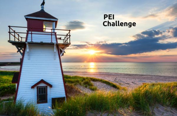 PEI lighthouse at sunrise