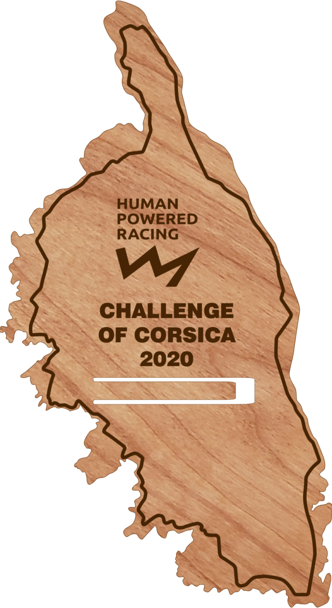 An image of the award plaque for the Challenge of Corsica