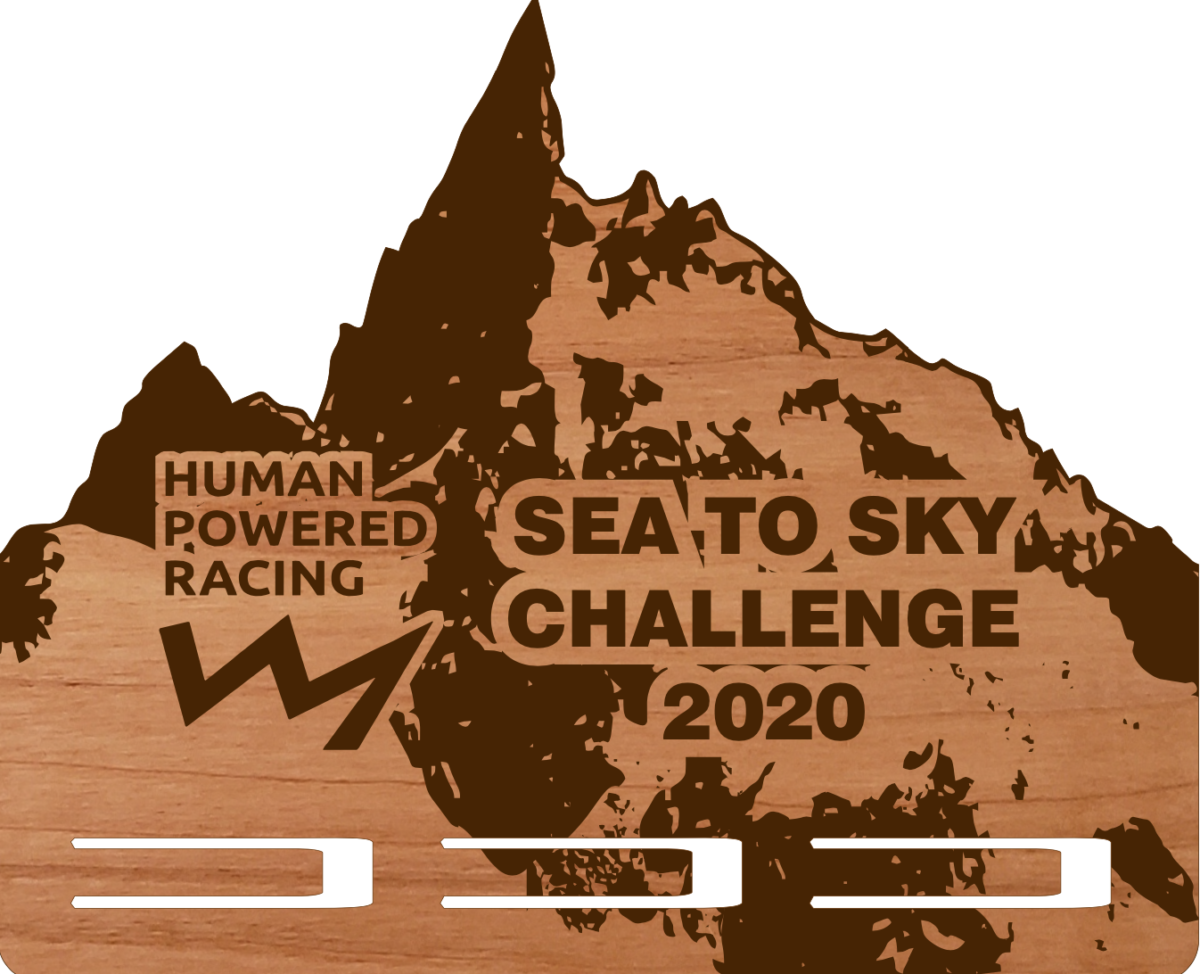 Image of the Sea to Sky Challenge plaque