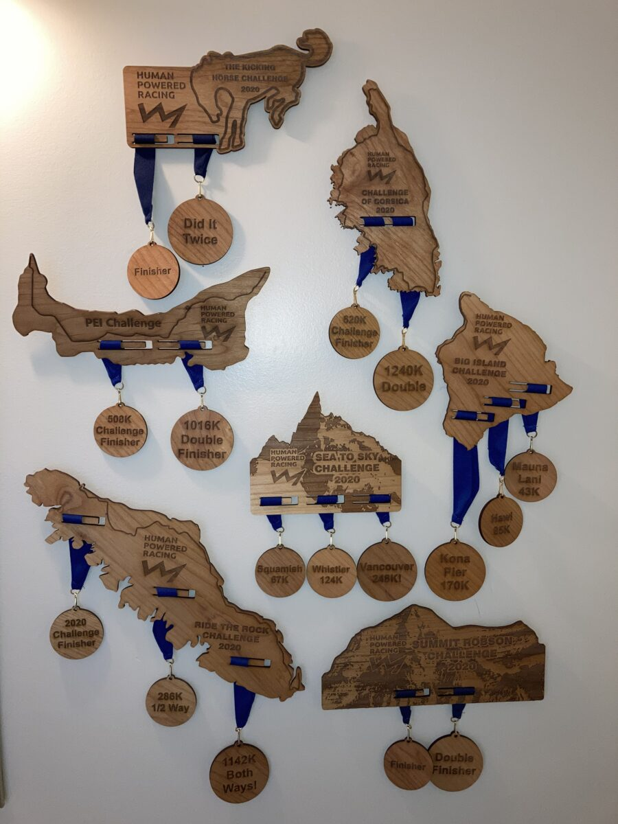 The Challenge plaques