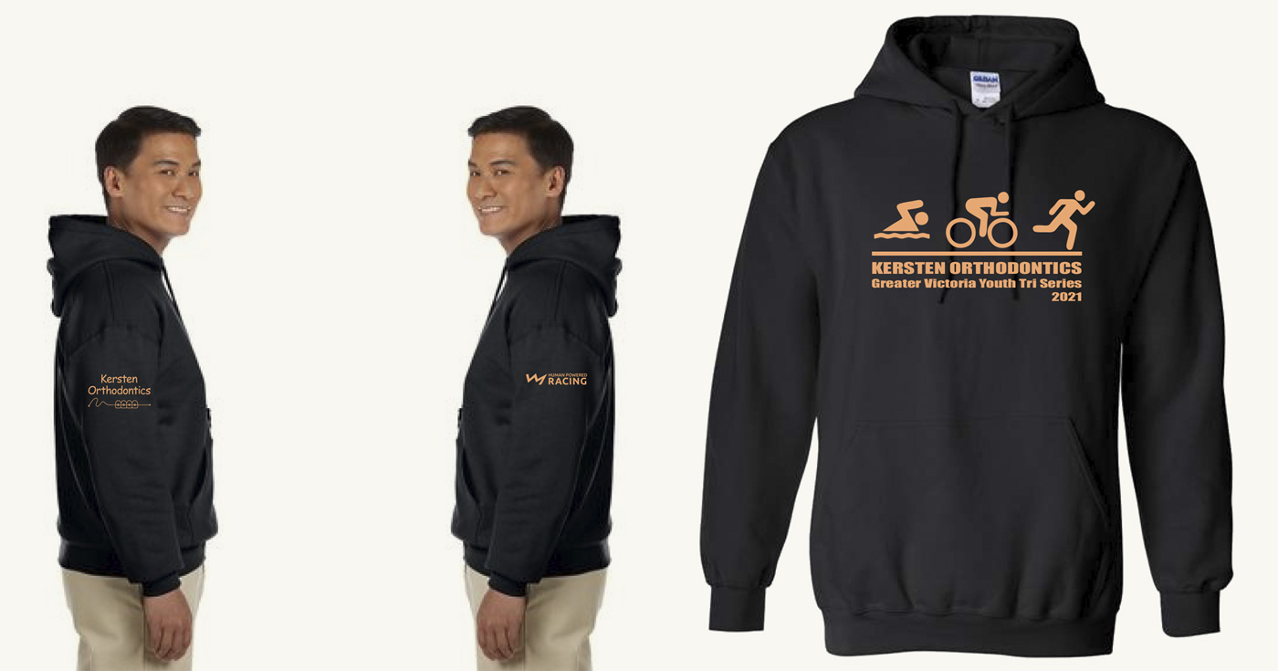 A man modelling the race series hoody.